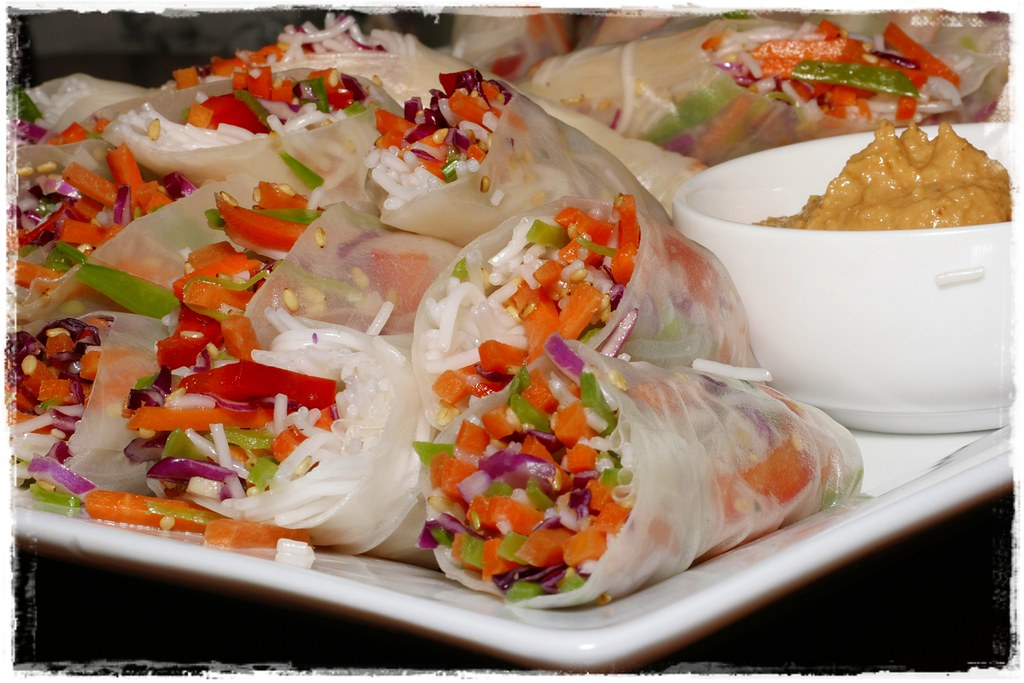 002/365 - Thai Summer Rolls.  Simple, wicked healthy, and delicious.