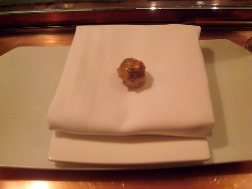 "Minibar - DC - December 2009 - ""Ferrero Rocher"" - savory hazelnut and blue cheese"