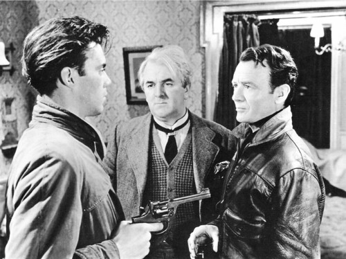 Dirk Bogarde, Joseph Tomelty and John Mills in The Gentle Gunman