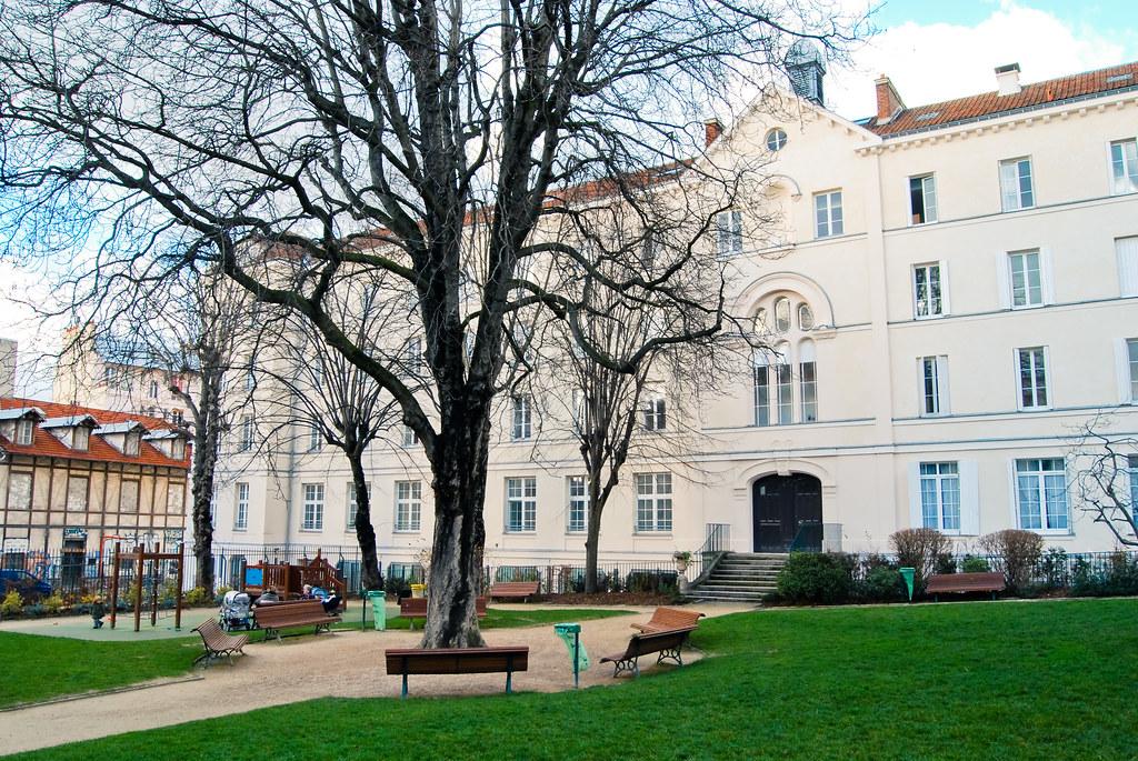 Le jardin du pavillon Carré de Baudouin