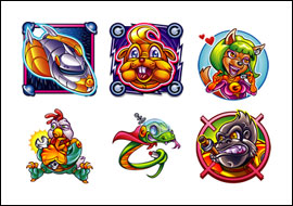 free The Adventures of Galactic Gopher slot game symbols