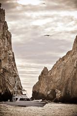 Regreso a Casa (Albacore08) Tags: sky bird clouds mexico boat nikon rocks arch yacht unesco ave cielo nubes bajacalifornia albatros arco cabosanlucas lancha piedras yate d90 loscabo