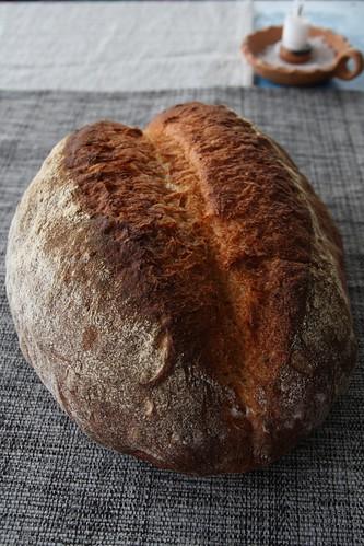 Hogaza de pan estilo fendu