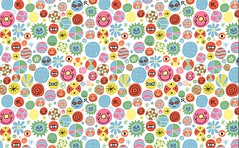 Happy People Repeat Pattern (Andy J Miller) Tags: flowers color texture andy illustration happy design graphicdesign rainbow eyes pattern round happypeople smileyface repeatpattern happyfaces circledesign vectorg andyjmiller