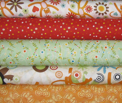 Studio E, In the Beginning, Cosmo Cricket, and Genevieve Gail Fabric Bundle, 5