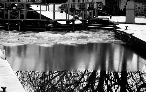 Barrage glacé