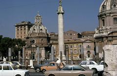 Column of Trajan: view 1974 (Roger B. Ulrich) Tags: foriimperiali trajan romanempire dacia trajanscolumn dacianwars imperialfora colonnaditraiano