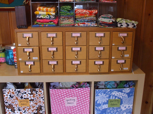 card catalog + fabric storage