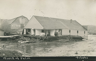 Wreck of Palm Cafe, March 1910 - Pullman, Washington