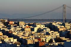 Bridging the City (Fred Sorin) Tags: sf sanfrancisco california ca city houses urban skyline buildings cityscape baybridge fredsorin