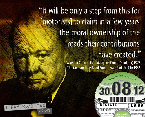 Winston Churchill iPayRoadTax Zero BED