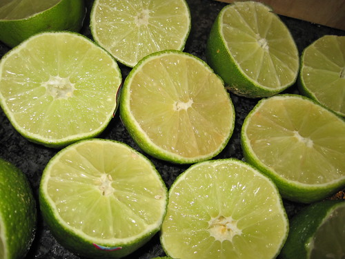 Fresh Limes Ready to be Juiced