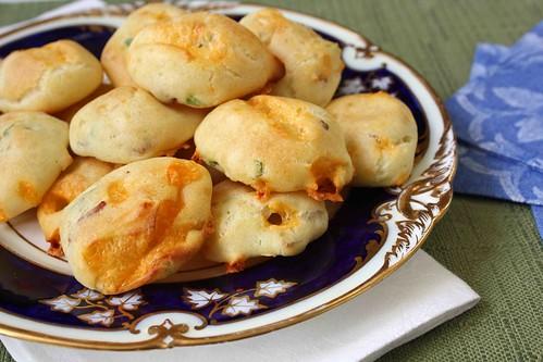 Bacon, Cheddar Cheese & Scallion Gougeres (Cheese Puffs) Recipe