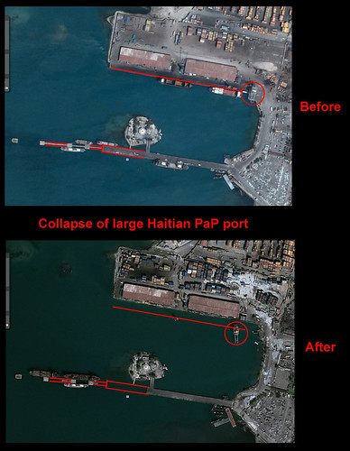 Haiti 2010 earthquake: collapse of port complex