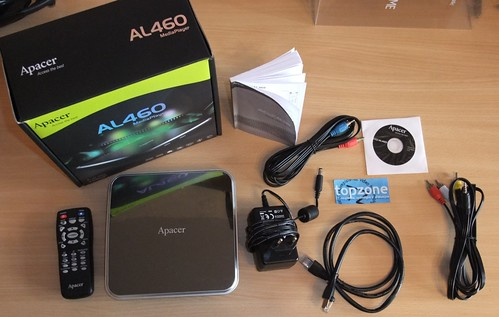 Apacer AL460 Full HD Media Player / 1080p filmų grotuvas