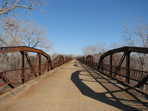 Looking east on Old US 62 bridge east of Headrick, Oklahoma
