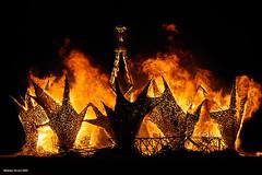 Engulfed in Flames (naturalturn) Tags: usa man art night fire nevada burningman blackrockcity burn 2009 theman burningman2009 image:rating=5 burningman:art=422 burningman:event=421 image:id=081235