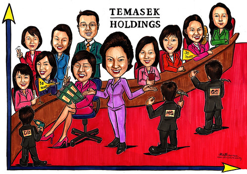 Group caricatures for Morgan Stanley (Temasek Holdings) A4 - (add-on)