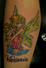 fairy (Billy Whaley Tattoo) Tags: new woman tattoo pretty kentucky name badass leg indiana fairy albany billy louisville lettering custom girlie whaley