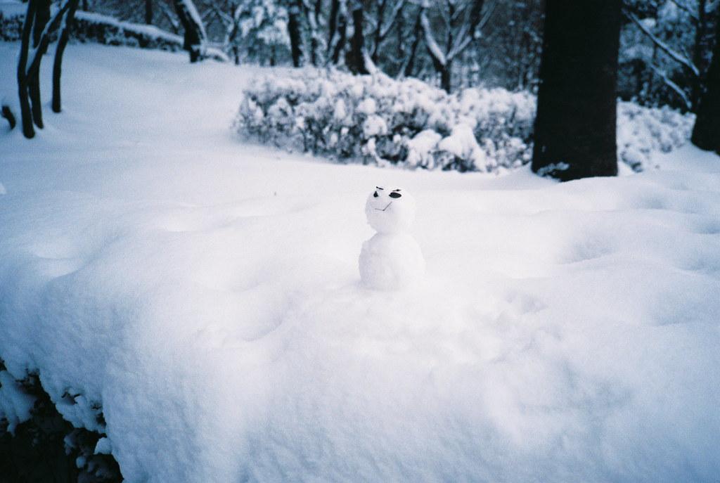 tiny snowman.