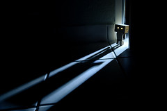 by night (Dennis_F) Tags: door light shadow man night toy licht eyes amazon glow angle little nacht box sony wide creat