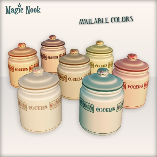 [MAGIC NOOK] Cookie Jars - Available colors