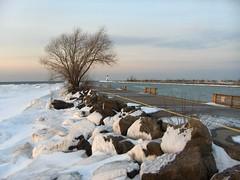 Port Dalhousie, St. Catharines, Ontario (bgilliard) Tags: winter lighthouse snow ice pier stcatharines lakeontario portdalhousie twelvemilecreek