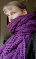 Waves scarf, before blocking