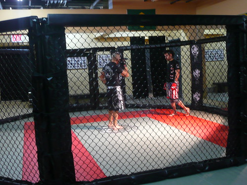 cage fighting.