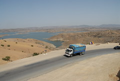 TRUCKING IN MOROCCO (Claude  BARUTEL) Tags: africa mountains sahara truck desert morocco atlas roads trucking