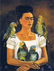 Frida Kahlo - Me and my parrots, 1941