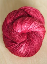 """Little Red"" on seacell/merino"