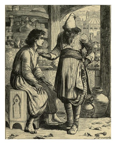 019-Hassan Bedreddin y el pastelero-T. Dalziel-Dalziel's Illustrated Arabian nights' entertainments (1865)