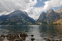 Jenny Lake (bhophotos) Tags: travel lake mountains nature water clouds landscape geotagged nikon day cloudy canyon wyoming teton cascade grandtetonnationalpark d300 jennylake 2470mmf28g projectweather