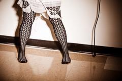 A (Aubrey Erin Photo) Tags: blackandwhite color sexy beautiful fashion pose studio fun dance shadows feathers style tights dirty vogue missouri messy 5d canon5d darling saucy direct onelight warrensburg falloff tinydancer bigearrings gridspot allayne aubreycallahan