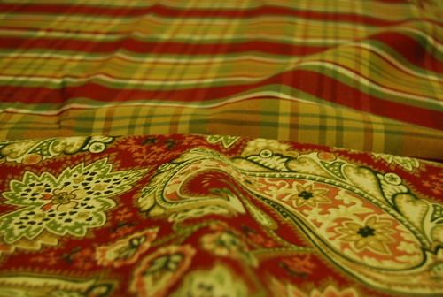 sewing Cameron's duvet