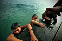 Portraits of Lake Toba Boys ( DocBudie) Tags: portrait children kid jump humanitarian laketoba childrenportrait lompat balige northsumatra danautoba sumaterautara loncat anakdesa visitlaketoba2010