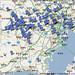 冬芽観察マップ googlemap