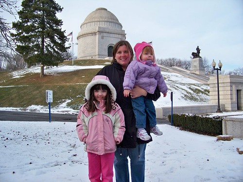 My girls and me at the McKinley Monument