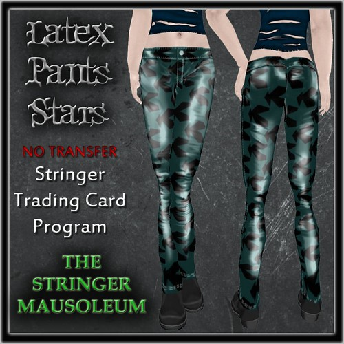 Unisex Latex Pants-Stars
