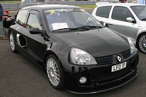Black Renault Clio Modified. Renault Clio Sport - Black