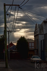 Photo 35/365 - Tree of Light (Aerokev) Tags: road morning windows light cloud sun sunlight signs building car sunrise power streetlamp australia melbourne victoria richmond 365 powerpole beams project365