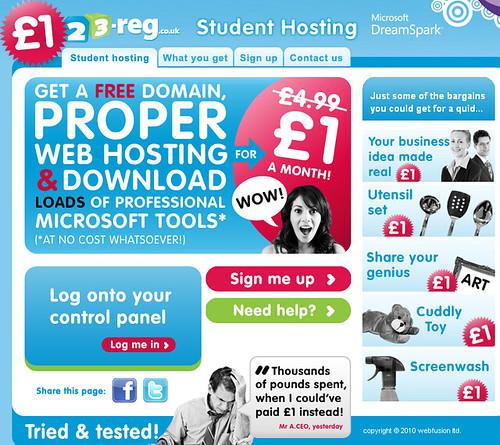 best student web hosting UK