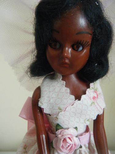 Black sleepy-eye doll