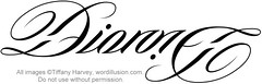 """Dionne"" Ambigram"