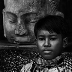 "The final chapter - ""Buddha, please bring papa back"" (Mio Cade) Tags: boy white black cambodia sad brother buddha calvin ke papa cry promise phnom penh justapose"