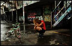Factory Bike 2 (Jay Daley) Tags: street portrait urban abandoned graffiti factory sony style alpha a900 sal2470