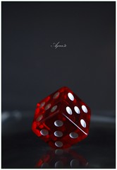 Io Non Gioco Con La Fortuna. Me La Creo. (AqUa3o) Tags: red dice black nikon five luck trick create dadi fortuna dado d40x colourartaward aqua3o