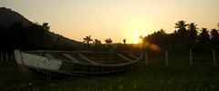 2009 10 28_0181_edited-2 (daveoleary) Tags: sunset skyline holidays fields vizag boatsandships treeorplant mountainorhill