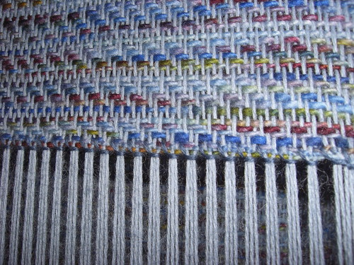 Hemstitch on the loom Closeup